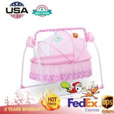 084adf5b166 Baby Cradle to Sleep Musical Rocking Chair Electric Swing Bouncer Crib + Mat