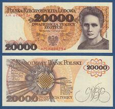 POLEN / POLAND 20.000 Zlotych 1989 UNC  P.152