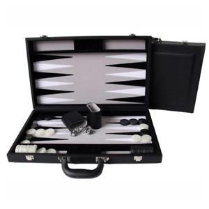 Dal Rossi Leather 18 Backgammon Set NEW