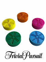 Genuine Trivial Pursuit Game Scoring Multicoloured Triangle Wedge Pieces