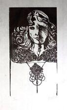 Leonard Baskin  A Desdemona Othello Vintage Original Hand Signed Woodcut 19/200