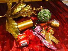 lot décor doré  p our fétes  et paquets =a saisir !