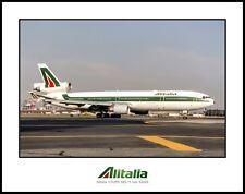Alitalia Airlines I-DUPA MD-11 11X14 Photo (II24RGAS11X14)