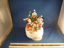 Vintage Disney Characters Picking Christmas Tree Ltd Ed Music Box