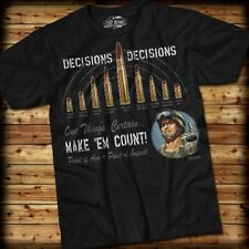 DECISIONS, DECISIONS T-Shirt- 7.62 Design SIZE XL 100% Pre-shrunk cotton, Black