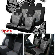 9pcs Car Seat Covers Protector Universal Washable Dog Pet Front Rear Full Set