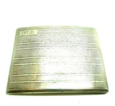 Cigarette Case Box Holder Solid Silver 925 Vintage Years' 30 English Birmingham