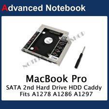 SATA 2nd HD SSD Hard Drive Caddy Apple Unibody MacBook Pro 2008-2012 Optical Bay