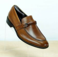 Stacy Adams Men 10 Wide Slip-On Loafer Dress Shoe Cognac Leather 24884-224 NWT