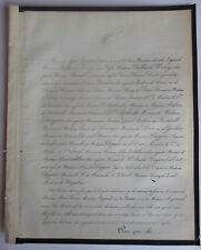 Marie LEGRAND née de ROUX FAIRE PART DECES  REYNAUD de TRETS CLAPPIER1859