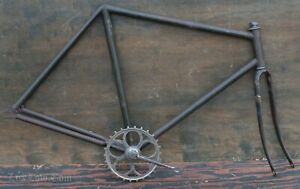 "Antique TOC Bike FRAME FORK CRANK 28"" Wood Wheel Safety Prewar Bicycle Dayton ?"