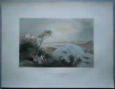 1842 Bartlett print VIEW FROM LEOPOLDSBERG TO KLOSTERNEUBURG, DANUBE, AUSTRIA