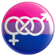 Bisexual Pride Symbol Flag BUTTON PIN BADGE 25mm 1 INCH | Gay Lesbian LGBT