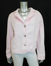 CATO WOMAN Light Pink Stretch Denim Button Front Jean Jacket Plus sz 18/20W