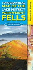 Topographical Map of the Lake District Wainwright Fells by Peter Knowles | Map B
