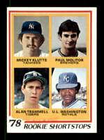 1978 Topps #707 Mickey Klutts/Paul Molitor/Alan Trammell/U.L. Washington NM/NM+
