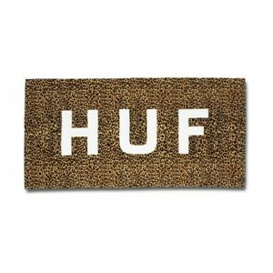 HUF Boxed Logo SS20 Brown Leopard Print Oversized Beach Towel
