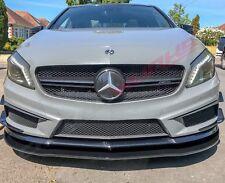 Mercedes A Class Gloss Black Front Spoiler Extension - UK Stock - W176 A45 A250