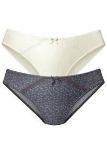 Petite Fleur Panties Women's Underwear Panty 2 Fold Pack Size 48/50 Two (713)