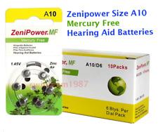 size 10 hearing aid batteries 60 pcs Zenipower Fresh Expires 2020