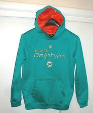 Miami Dolphins NFL Team Issue Aqua Blue Hoodie Hooded Sweatshirt Youth sz-Med