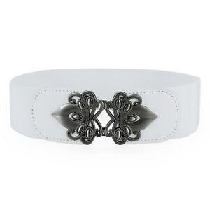 Women Girls Vintage Wide Stretchy Dress Belt Elastic Waist Retro Cinch Belt Gift