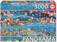 Puzzle Educa 17132, Vida, Life, Panorama, Fantasia, Colorido, 3000 piezas, teile