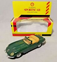 SHELL CLASSIC SPORTS CAR COLLECTION - 1:38 DIECAST - JAGUAR E CABRIOLET - BOXED