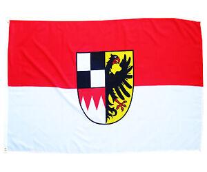 Fahne Mittelfranken mit Wappen 90 x 150 cm Hissflagge 2 Ösen Region Bayern
