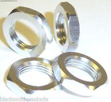 1/8 17mm Drive Wheel Hex Hub Nut Aluminium Silver x 4