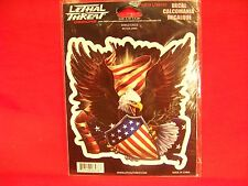 EAGLE & SHIELD DECAL - LETHAL THREAT DESIGNS - NEW IN PACKAGE