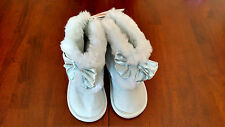 NWT • GYMBOREE Baby Girl's Snowflake Unicorn Bow Faux Fur Cuff Boot Size 3