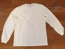 Anvil Long SleeveT-Shirt White Lot 6 Shirts Adult Large Silk Screen tee