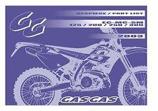 Gas Gas Parts Manual Book Chassis & Engine 2003 EC 125, EC 200, EC 250 & EC 300