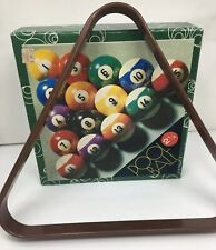 Vintage Kelly Pool Balls 2 1/4 & Rack