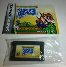 Super Mario Advance 4: Mario Bros. 3 Nintendo Game Boy W/MANUAL & BAG