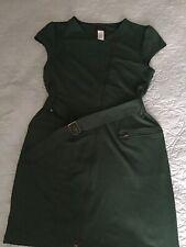 Avon mark green belted zipper dress SZ L