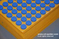 1000 Blue Self Adhesive Sticky DVD CD Foam Hub Blu Ray Foam Holders Dots Studs
