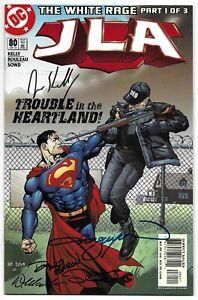 JLA 80 Signed by 4 DC Justice League Wonder Woman Superman Green Lantern Batman
