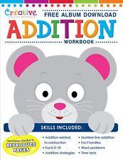 NEW 32pg Early Learning Workbook Addition Math Teaching Kindergarten First Grade