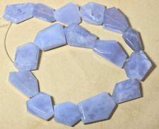 490cts Druzy Blue Chalcedony Bead Strand 109438MA