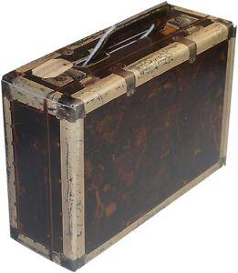 """kleiner Trage Karton """"Koffer"""" in Holzoptik - WK 1er - Weinkoffer Weinkarton Box"""