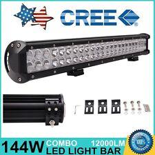 23in 144W CREE LED Work Light Bar COMBO 12V 24V Offroad Fog 4X4 Lamp Driving SUV