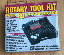ROTARY TOOL KIT WITH 60 ACCESSORIES 41695 Harbor Freight Chicago Electric Power