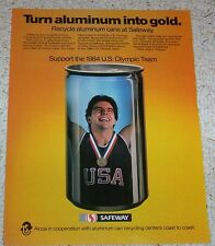 1982 ad page - Safeway Foods Grocery Store recycle aluminum cans 1984 Olympics