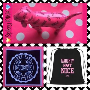 NEW VICTORIA'S SECRET PINK💕LIMITED ED MINI PINK DOG🌟FREE GIFT💎