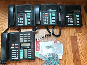 Nortel M7208 Telephone Black NT8B30 (3 Lot) M7310 (1 Quantity)