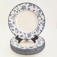 Set of 7 Royal Stafford Spring Garden Salad Plate Floral Blue and White