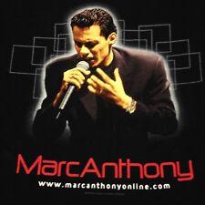 Marc Anthony black XL 2-sided T-shirt Latin Spanish Rock Pop Dance