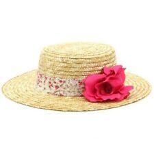 Chapeaux roses en paille pour femme